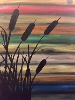 Cattails in Silhouette