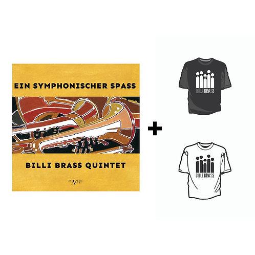 Disco Ein Symphonischer Spass + T-Shirt Billi Brass Fan + Adesivo in Omaggio