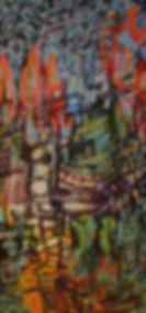 Acenscion - 2009 (24_ x 48_) Cold Wax _