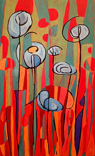 Forget Me Nots - 2014 (36_ x 48_) Cold W