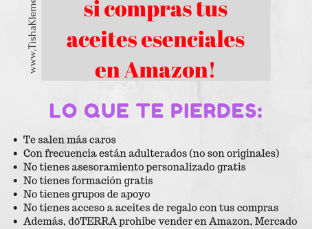 No compres doTERRA en Amazon!