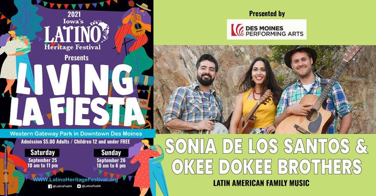 2021 - social media -latino heritage festival- SONIA DE LOS ANTOS & Okee Dokee Brothers-14