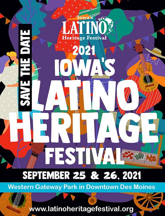 latino heritage festival - flyer 2021- W