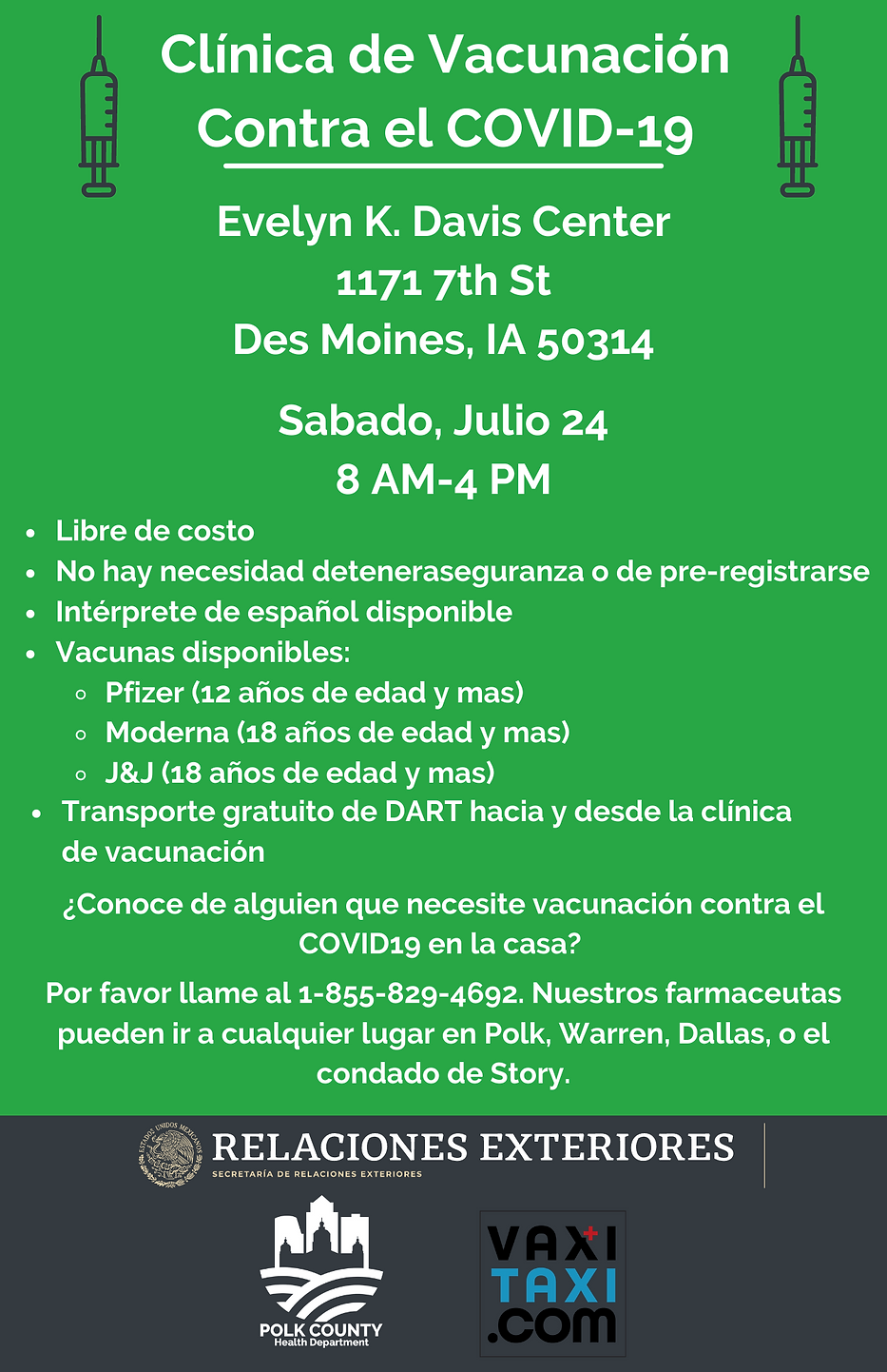 Vaccination Clinic Event-flyer (ES) .png