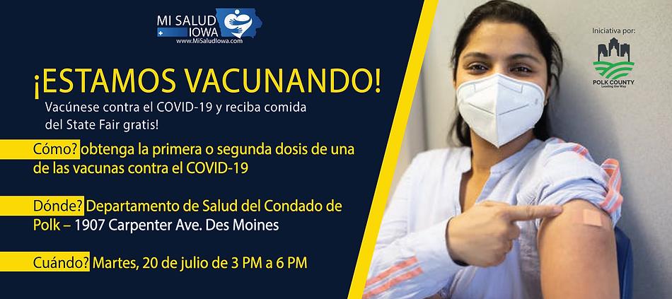 Jornadas de vacunacion - clinica - Covid 19 - Mi Salud Iowa - Des Moines Iowa - Polk count