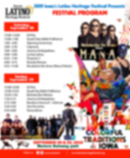 festival program  Iowa Latino Heritage F
