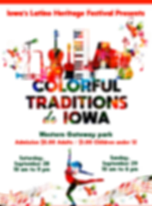 Flyer Iowa Latino Heritage Festival 2019