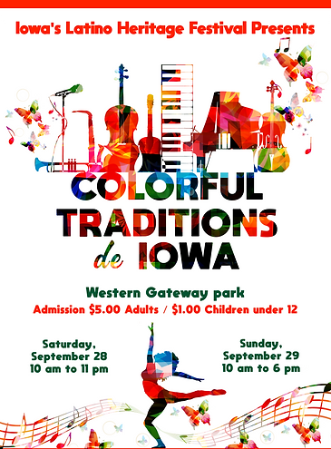 Flyer Iowa Latino Heritage Festival 2019