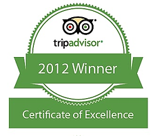 TripAdvisor Certificate of Excellence 20
