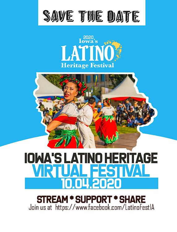 Flayer Iowa Latino Heritage Festival 201