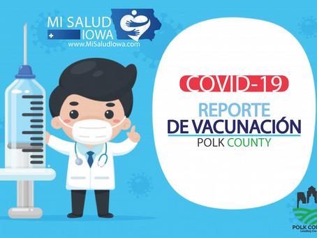 Covid-19: Reporte de vacunación - Polk County