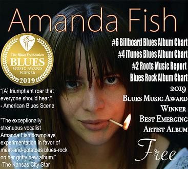 Amanda Fish Free Album 2019 Blues Music Award Winner Best Emerging Artist Album