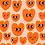Thumbnail: Smiley Hearts - Tela loneta orgánica