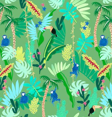 Summer pattern - monkey - Borneo