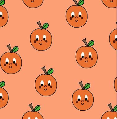 BRUNA naranja - Punto jersey elástico