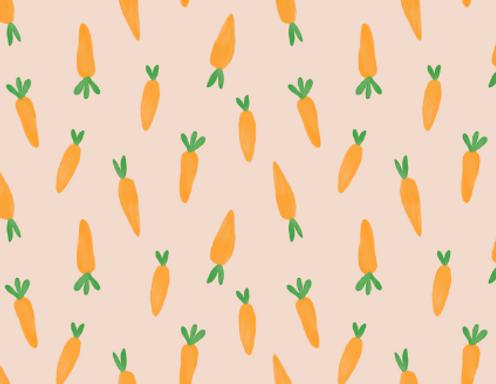 CARROTS - Popelín 100% algodón orgánico