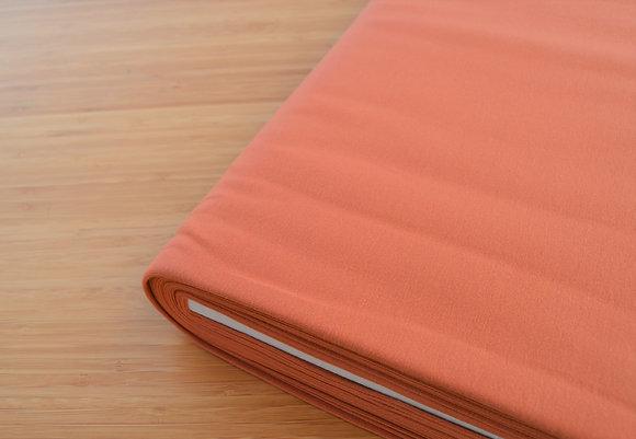 Tela marrón Rust elástica para camisetas