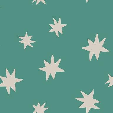 STARS - Tela punto jersey afelpado