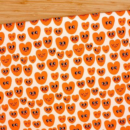 30 cm Smiley Hearts Loneta Orgánica