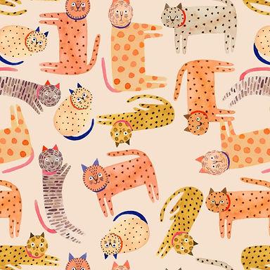 Kittens - Tela Punto Jersey 100% algodón