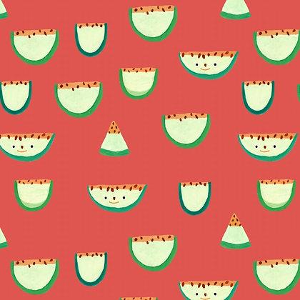 Fruits fabric - melon - red - Fresimelon