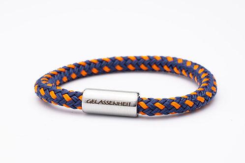 Armband blau/ orange, mit Tomanika Gelassenheit