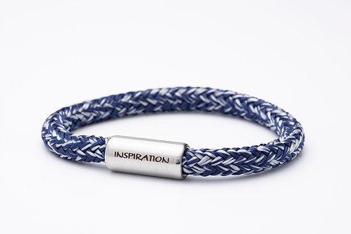 Armband dunkel blau meliert, mit Tomanika Inspiration