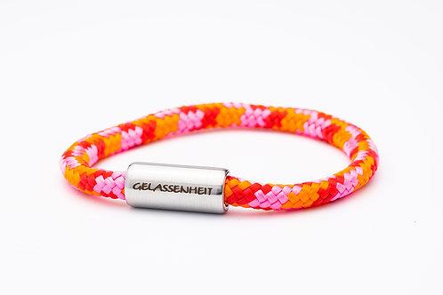 Armband rosa/ orange/ rot, mit Tomanika Gelassenheit