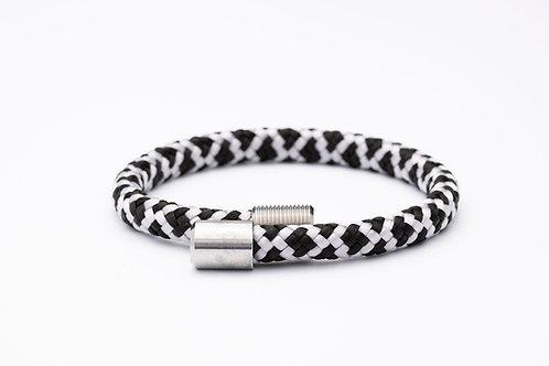 Wechselarmband, schwarz, weiß