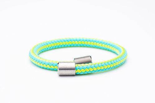 Wechselarmband, grün, gelb