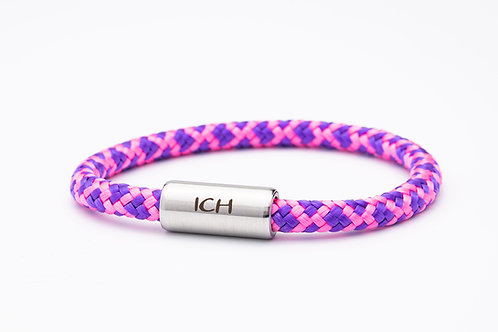 Armband lila/ rosa, mit Tomanika Ich