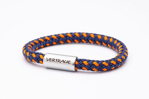 Armband blau/ orange, mit Tomanika Vertraue