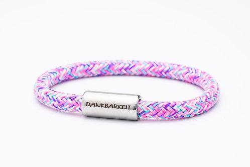 Armband rosa meliert, mit Tomanika Dankbarkeit