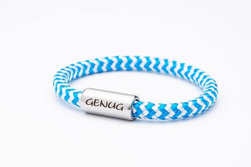 Armband weiß/ hell blau, mit Tomanika Genug