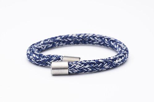 Wechselarmband, dunkel blau meliert