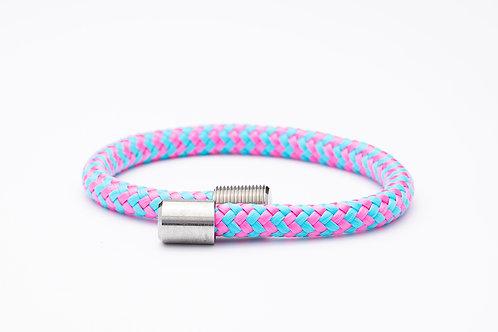 Wechselarmband, rosa, blau