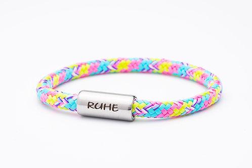 Armband rosa/ blau/ gelb, mit Tomanika Ruhe