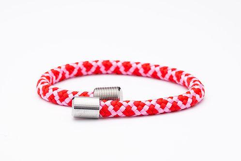 Wechselarmband, rosa, rot