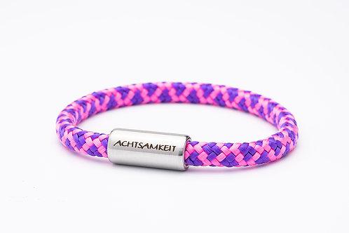 Armband rosa/ lila, mit Tomanika Achtsamkeit