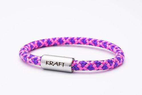 Armband rosa/ lila, mit Tomanika Kraft