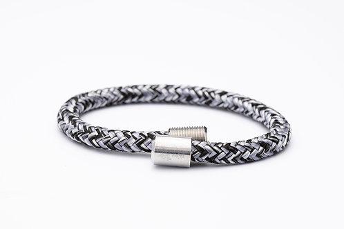 Wechselarmband, schwarz, grau, meliert