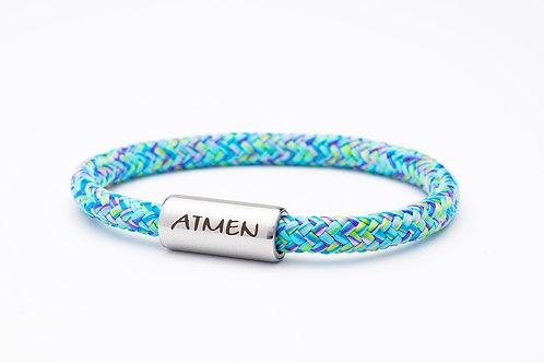 Armband hell blau meliert, mit Tomanika Atmen