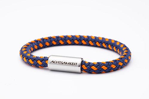 Armband blau/ orange, mit Tomanika Achtsamkeit
