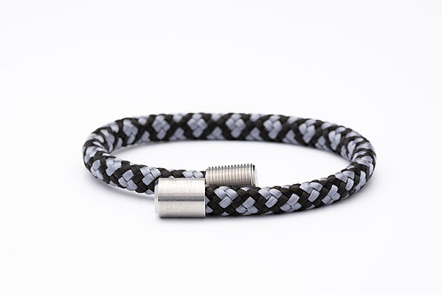 Wechselarmband, grau, schwarz