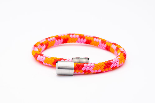 Wechselarmband, rosa, orange, rot