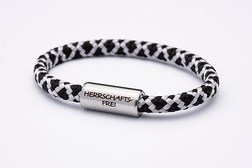 Armband schwarz/ weiß, Spezial Edition mit Tomanika Herrschaftsfrei