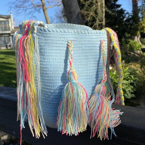 Mini Wayuu - Handbag Light blue