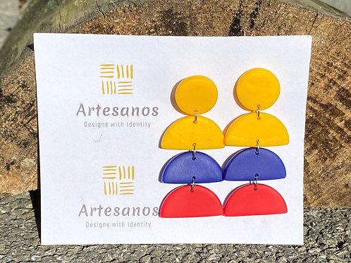Earrings - Colombian Flag