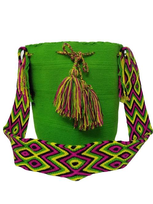 Wayuu Unicolor Bag - Wild Green