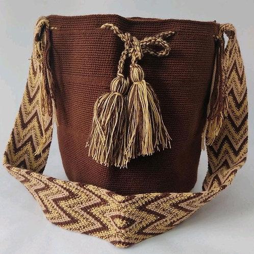 Wayuu Unicolor bag - Brown